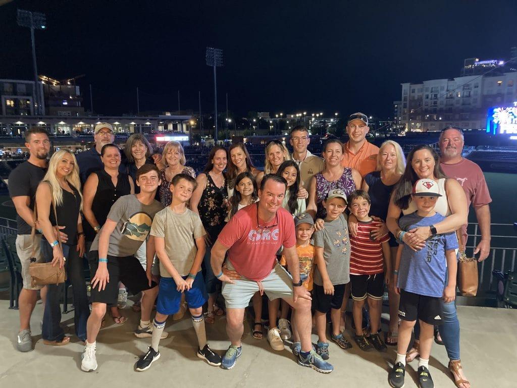Family baseball game